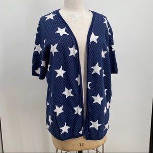 Lane Bryant open cardigan plus size 14 16 blue